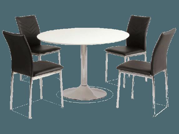 Стол обеденный деревянный Flavio Signal белый, фото 2