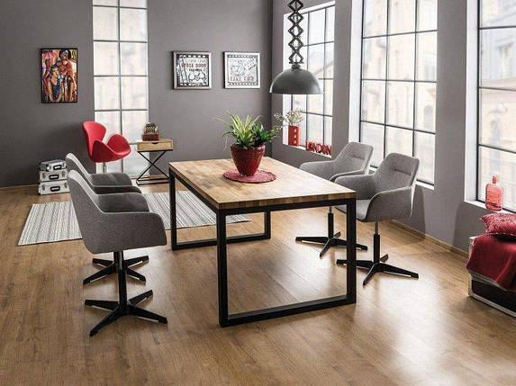 Стол обеденный деревянный Loras II 120×80 Signal массив дуба/черный, фото 2