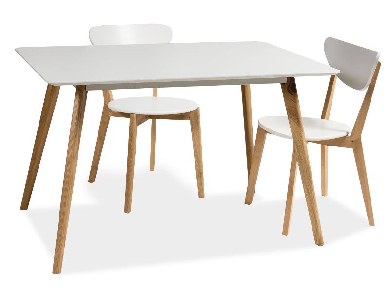 Стол обеденный деревянный MILAN 120 Signal белый