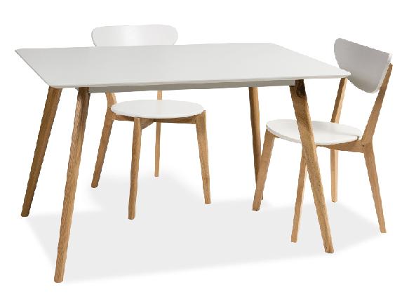 Стол обеденный деревянный MILAN 120 Signal белый, фото 2