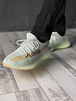 Кроссовки Adidas Yeezy Boost 350 v2 мужские, белые, в стиле Адидас ИзиБуст, текстиль, код FL-2068