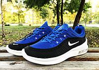 Кроссовки Nike Airmax черно-синие, фото 1