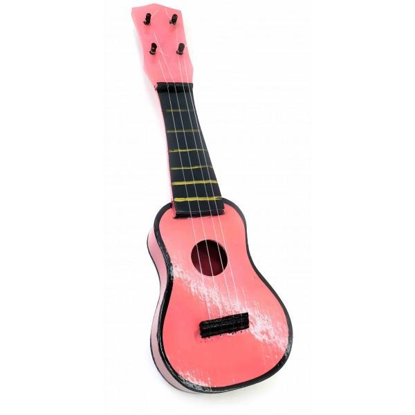 """Гитара """"Укулеле"""" деревянная розовая (38х12х4 см) ( 32664B)"""