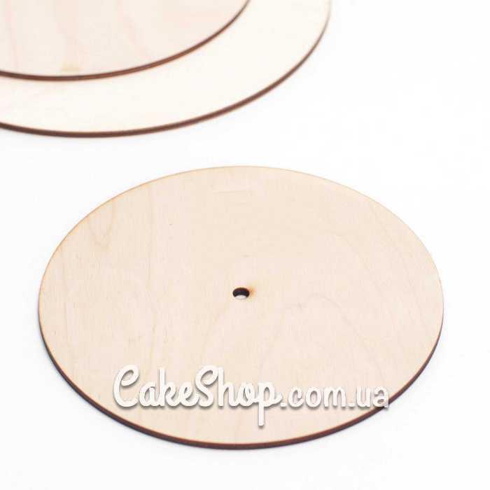 Подложка для многоярусного торта с отверстием (фанера), d-24 см