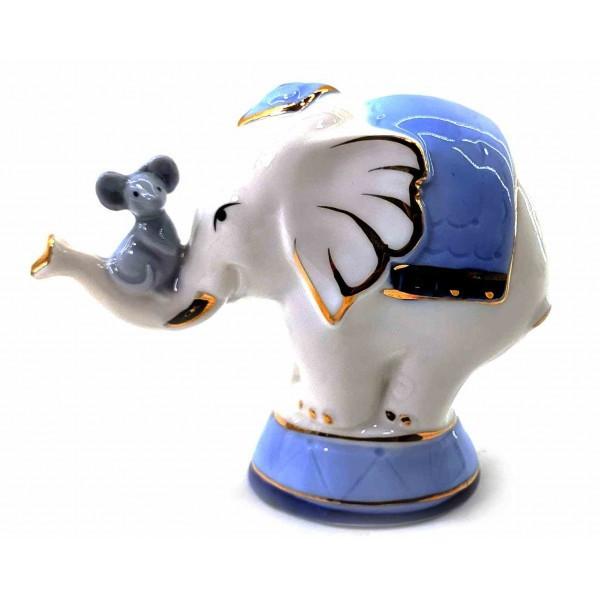 Мышка со слоном фарфоровые(9х10х4 см) ( 32711)