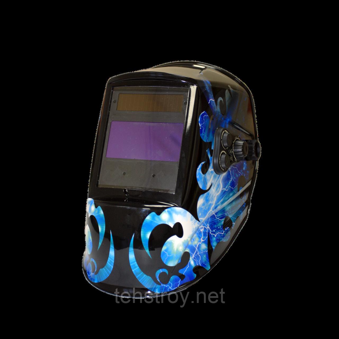 "Сварочная маска MegaTec ""КОМАНДОР"" 423R (blue flash)"