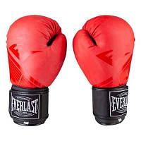 Боксерские перчатки EVER DX матовый, р-ры 8, 10, 12oz, красный.