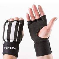 Перчатки-бинты внутренние TopTen, черный, рр.S, M, L, XL