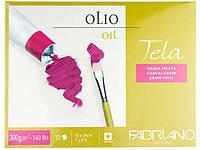 Альбом для рисования Fabriano A4 10л 300г/м2 Tella холст склейка 8001348161189