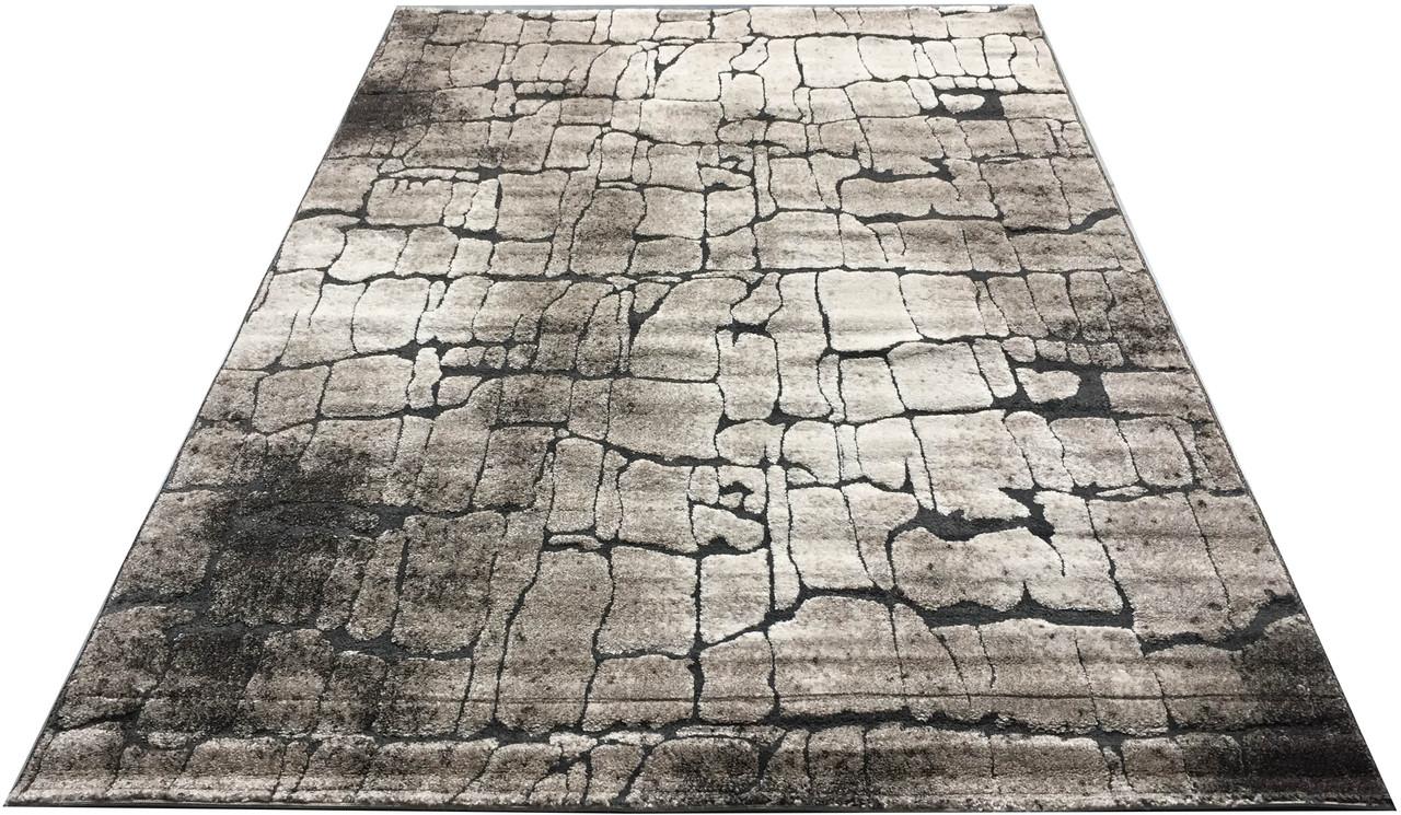 Ковер современный прямоугольник MIAMI SHRINK AI36A 2Х2,9, L.BEIGE / D.BEIGE