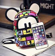 Яркий женский мини рюкзак Микки, фото 3