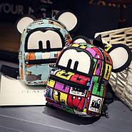 Яркий женский мини рюкзак Микки, фото 2