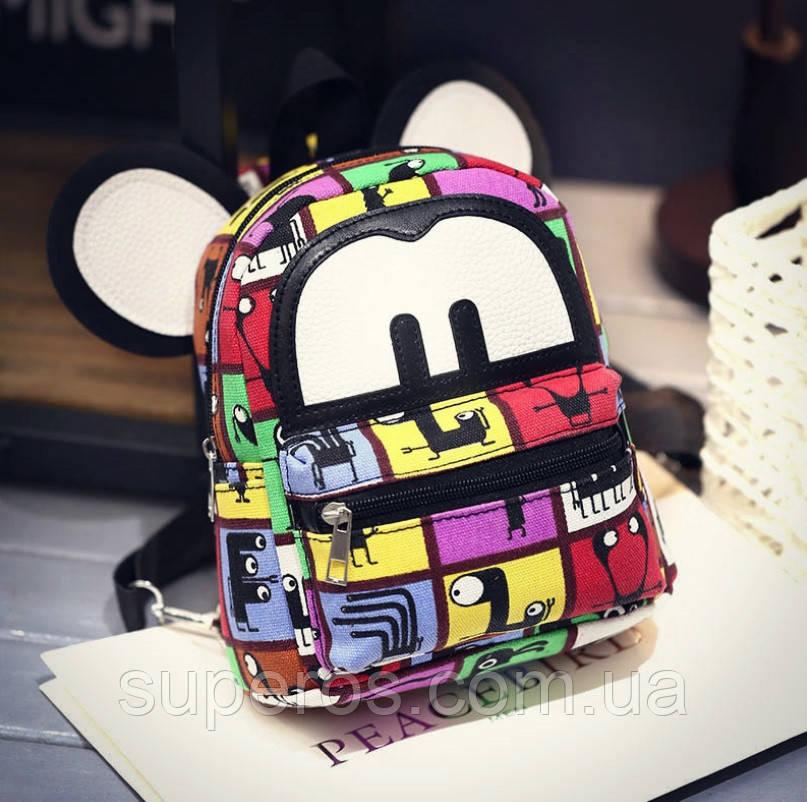 Яркий женский мини рюкзак Микки