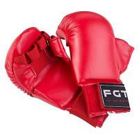 Накладки для карате FGT, PU4008, S, M, красный