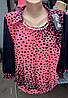 Женская блуза из микромасла и шифонового рукава