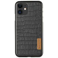 "Кожаная накладка G-Case Crocodile Dark series для Apple iPhone 11 (6.1""), фото 1"