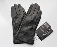 """Женские кожаные перчатки """"Stripes"""" черные, фото 1"""
