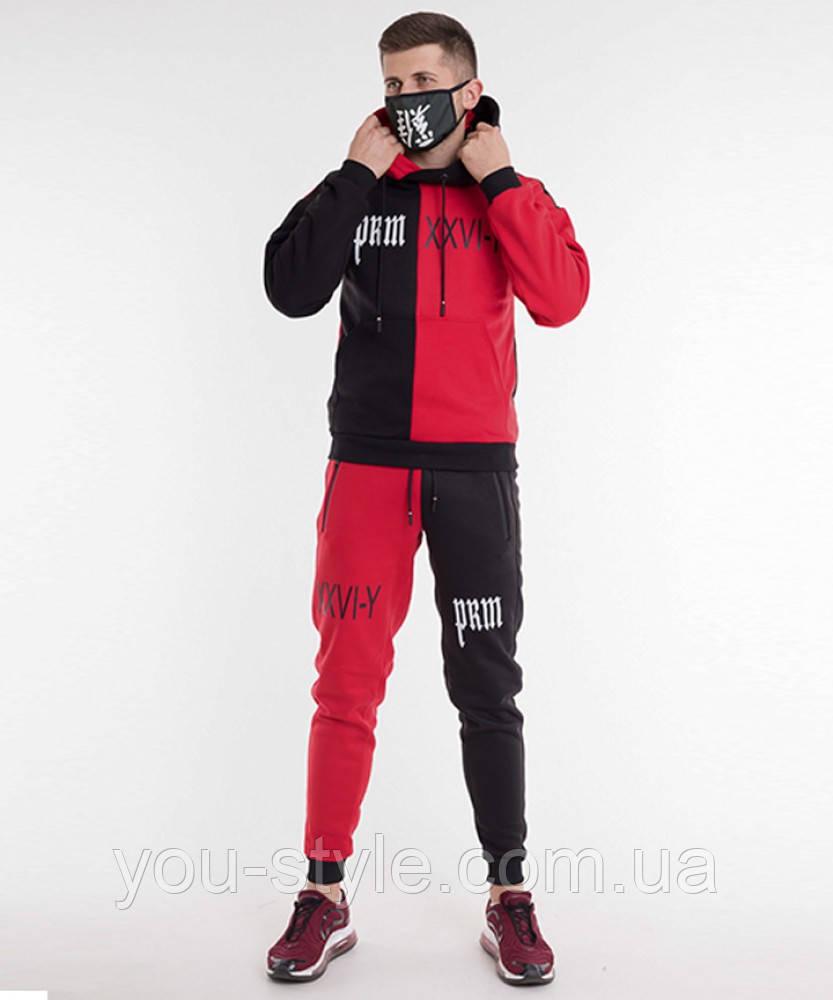 Спортивный костюм Sad & Smile │ Черно-красный