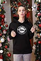 Толстовка утепленная PUMA Sport Wear ORIGINAL черная унисекс
