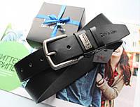Мужской ремень  Calvin Klein в коробке черный, фото 1