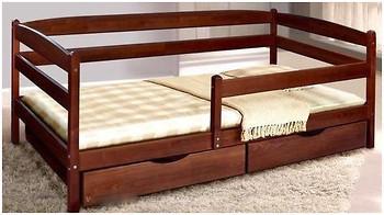 Кровать Микс Мебель Ева с выдвижными ящиками и дополнительной перегородкой 900*2000