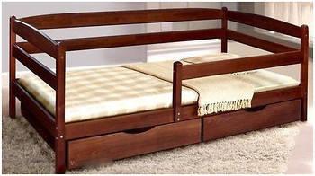 Кровать Микс Мебель Ева с выдвижными ящиками и дополнительной перегородкой 900*2000, фото 2