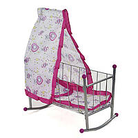 Кроватка для кукол Melobo с балдахином розовая SKL11-183662