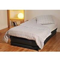 Надувная кровать intex 67732 одинарная велюровая со встроенным электро насосом