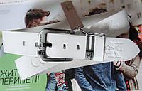Кожаный ремень для джинсов Calvin Klein белый, фото 1