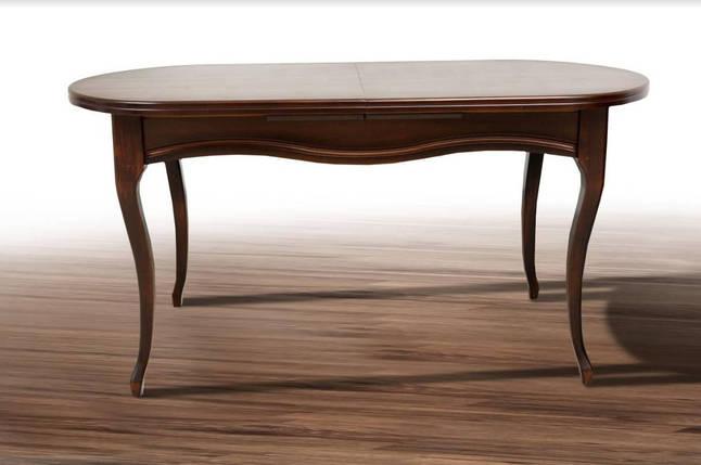 Деревянный обеденный стол Микс Мебель Оливер (1500+500)*845, фото 2