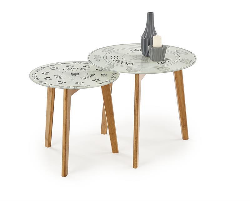 Комплект из 2-х столов HALMAR BRAGA разноцветный