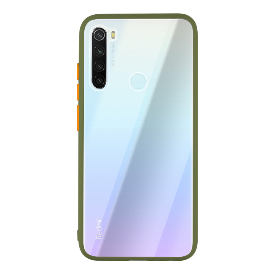 Чехол накладка Goospery Case для Xiaomi Redmi Note 8 Clear/Olive/Orange