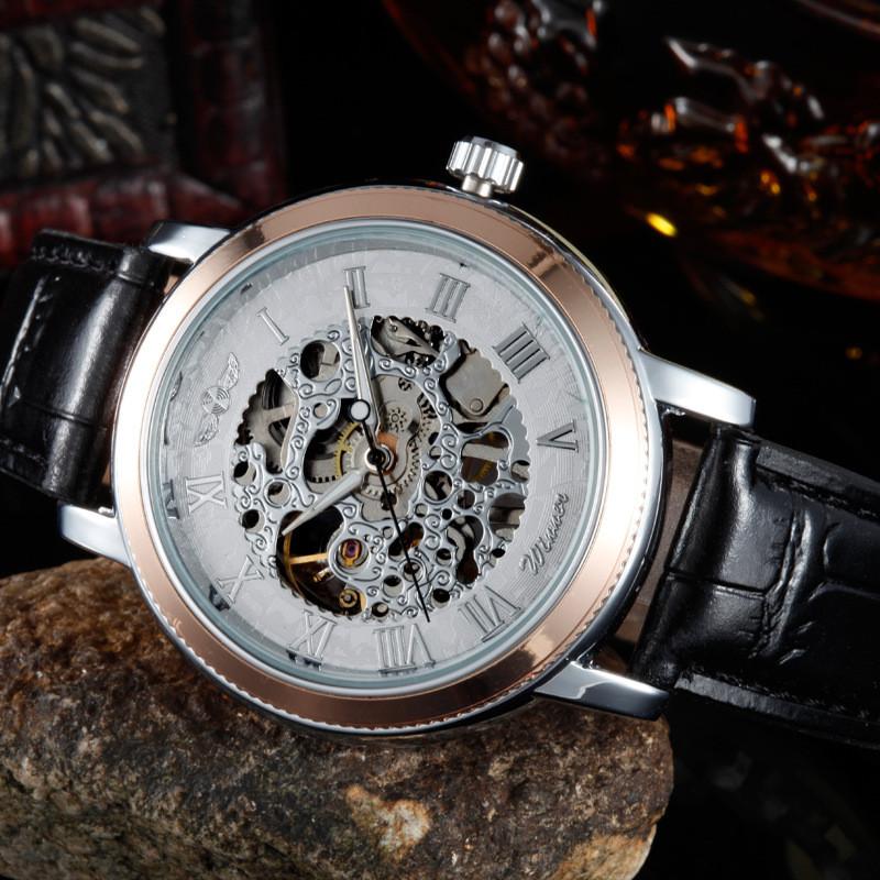 Механические часы Winner Skeleton Silver
