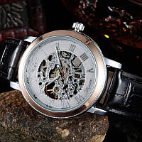 Механические часы Winner Skeleton Silver, фото 1