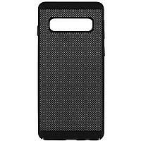 Ультратонкий дышащий чехол Grid case для Samsung Galaxy S10+, фото 1