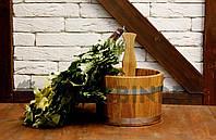 Ковш для бани Fassbinder™ дубовый, 5 литров, фото 1