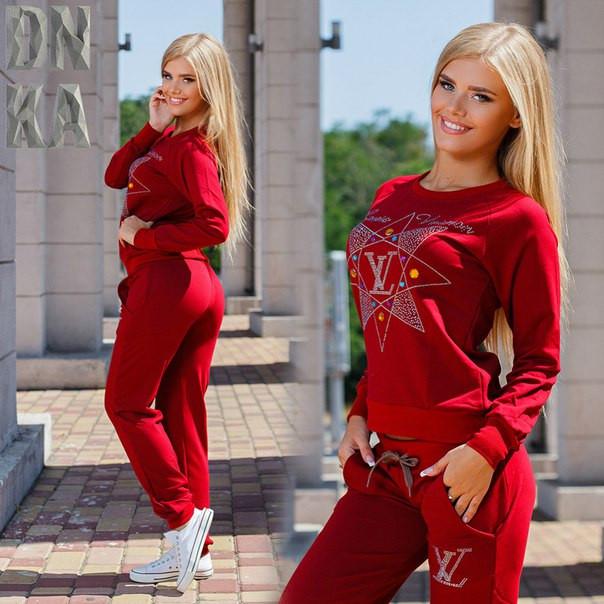 ef8d7088130 Женский весенний спорт костюм со стразами (Турция) -