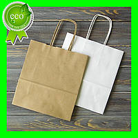 Бумажный Крафт пакет с ручками 320х150х300 (50шт)