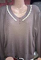 Свитер с оригинальным плетением спереди, фото 1