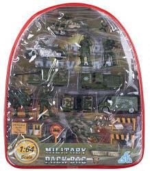 Военный набор, 16 элементов, в рюкзаке 441927