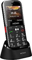 """Мобильный телефон Nomi i220 Dual Sim Black; 2.2"""" (176x144) TN / клавиатурный моноблок / MediaTek MT6261D / ОЗУ 32 МБ / 32 МБ встроенной / камера 0.08"""