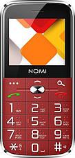 """Мобильный телефон Nomi i220 Dual Sim Red; 2.2"""" (176x144) TN / клавиатурный моноблок / MediaTek MT6261D / ОЗУ 32 МБ / 32 МБ встроенной / камера 0.08 Мп, фото 3"""