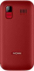 """Мобильный телефон Nomi i220 Dual Sim Red; 2.2"""" (176x144) TN / клавиатурный моноблок / MediaTek MT6261D / ОЗУ 32 МБ / 32 МБ встроенной / камера 0.08 Мп, фото 2"""