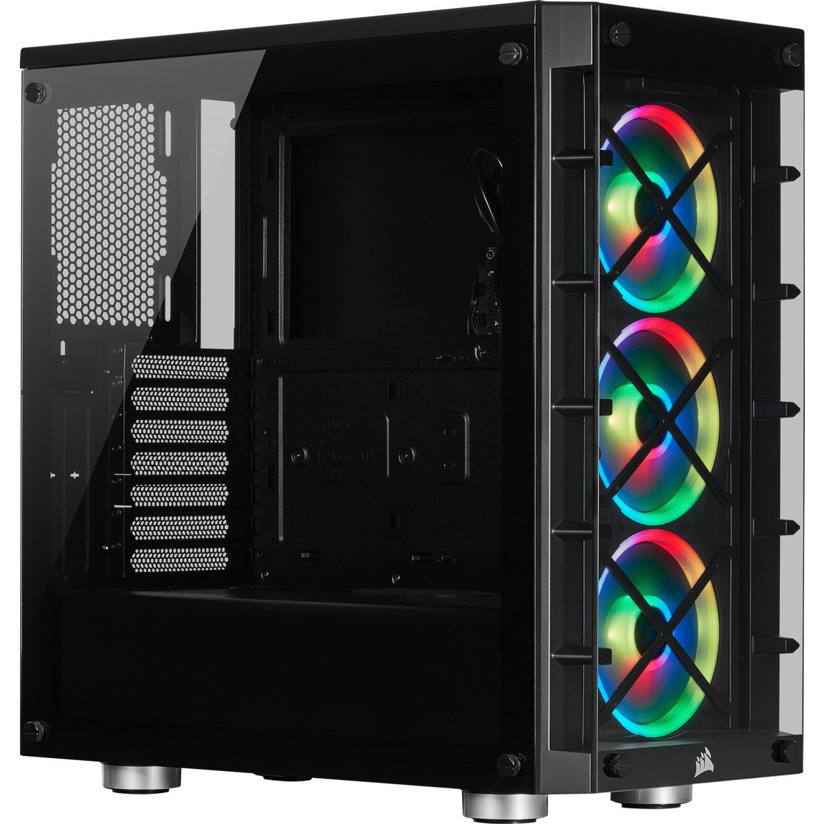 Корпус Corsair 465X RGB Black (CC-9011188-WW) без БП
