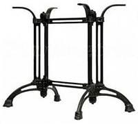 База Спарта Двойной (ТТ105) Черный.  Опора для стола. База для стола. Основа для стола. Подстолье.