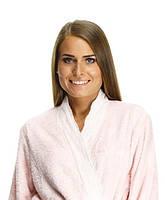 Махровый бамбуковый халат с кружевом FLASHY, розовый S