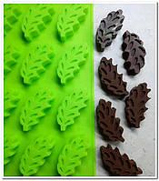 Листики форма для выпечки и десертов  силикон, фото 1