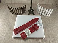 """Кожаный ремешок для наручных часов - светло коричневый (вишневый)- """"Nagata"""" 22 мм Spain"""