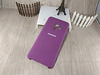 """Оригинальный чехол """"Silicon case"""" для Samsung Galaxy S9 SM-G960 Soft Touch - баклажанный с логотипом"""