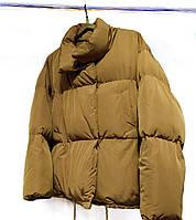 Женская дутая куртка зефирка, размер оверсайз